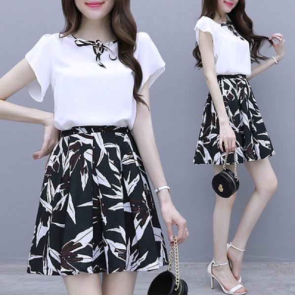 套裝新款很仙的連身裙氣質時尚洋氣甜美兩件套H430-B胖妞衣櫥