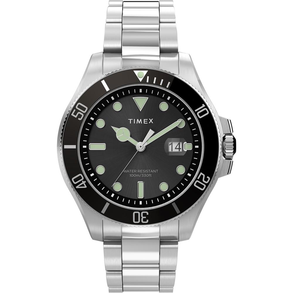 【TIMEX】天美時 風格系列 經典紳士手錶 ( 黑 / 銀 TXTW2U41800)