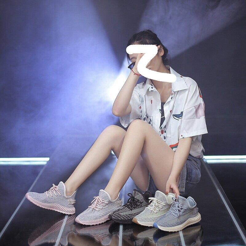 2021春夏新款透氣運動鞋女ins韓版飛織女鞋學生跑步板鞋潮FZ-6655