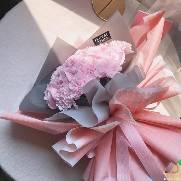 母親節送花媽媽25支康乃馨玫瑰花束仿真花香皂花女生生日禮物實用 創意家居生活館