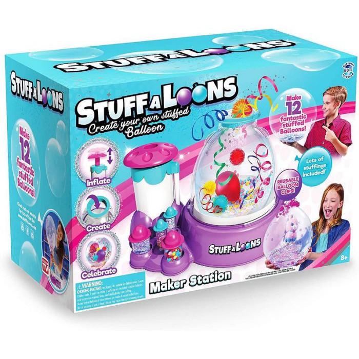 【STUFFALOONS】繽紛歡樂氣球機/ 氣球打氣機 / 免電池/ 球中球 /正版授權/玳兒玩具