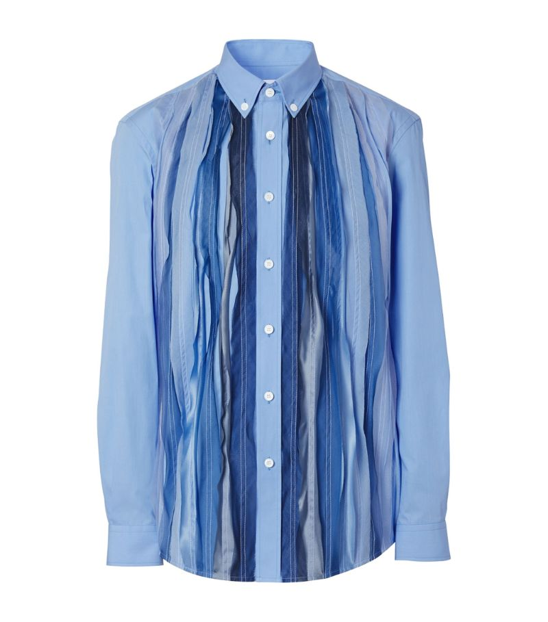 Burberry Pleated Printed Shirt