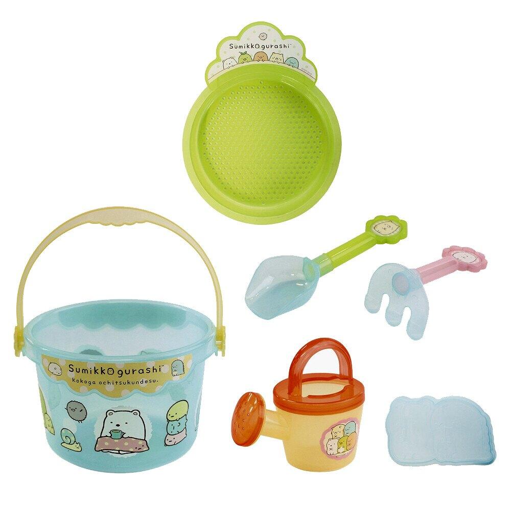 日本角落生物兒童挖沙玩具玩沙玩具沙灘玩具手提挖沙組