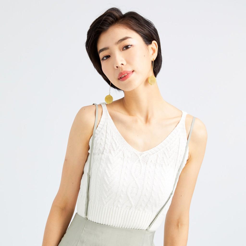 【ERSS】正反兩穿拐麻花優雅背心 白色 -女 K90001