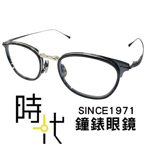 【台南 時代眼鏡 Japonism】日本製 光學眼鏡鏡框 日本純鈦 JS-143 C03 橢圓鏡框眼鏡 48mm 銀/霧藍