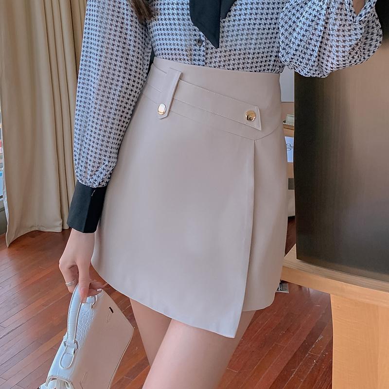 不規則半身裙女高腰顯瘦氣質款時尚減齡韓版洋氣短裙a字短裙包臀裙子防走光一步褲裙