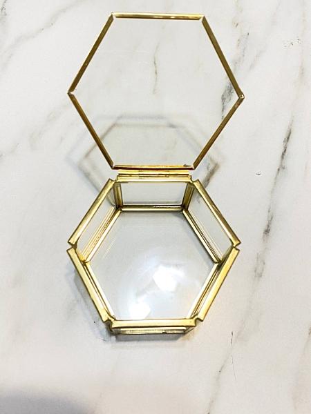 戒子盒無鏈款,玻璃花房,飾品盒,7.5*7*4cm