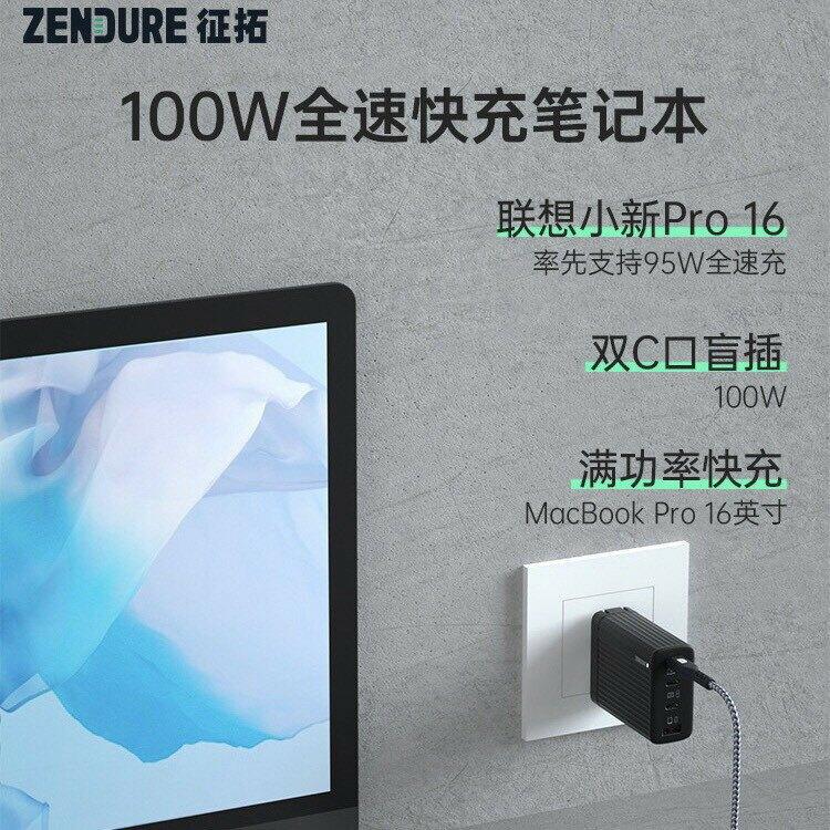 台灣現貨⚡️當天寄出 Zendure 征拓 Super Port S4 充電頭 充電器 插頭 100W全速