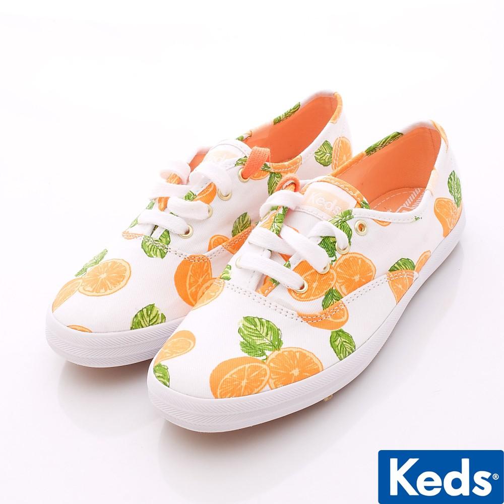 Keds品牌經典帆布白/柑橘/斜紋布/橡膠52696(女段)225cm23cm235cm24cm245cm零碼出清