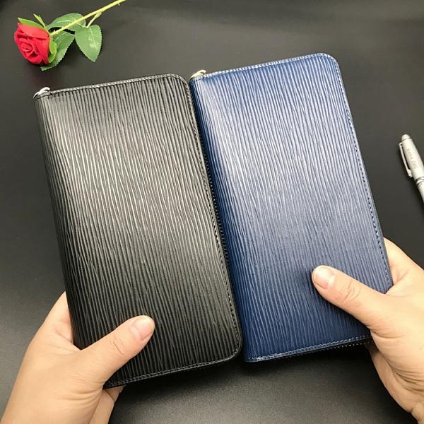 日本原單招財錢包女2020新款長款水波紋大容量男士短款拉鏈手拿包10 幸福第一站