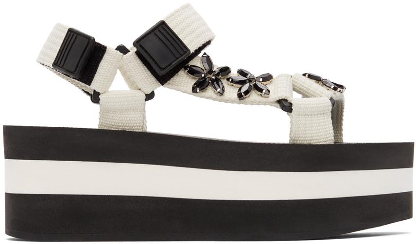 Marni 白色 Embellished 凉鞋