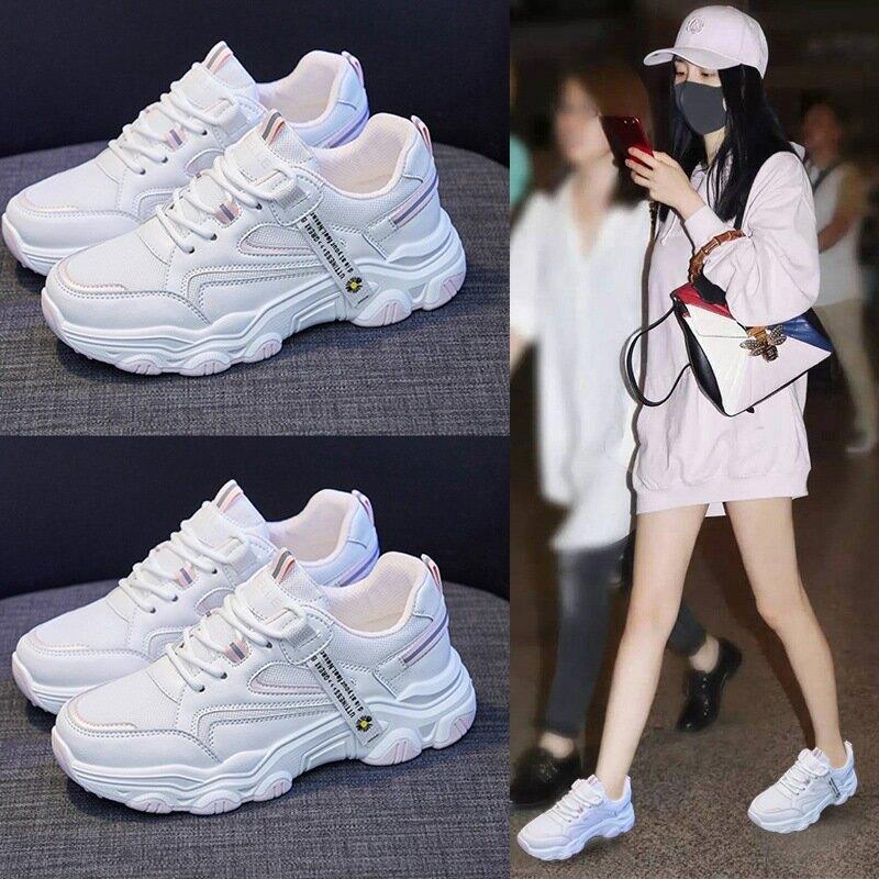 2021春夏新款韓版運動老爹女鞋ins學生跑步街拍休閒潮鞋增高NK113