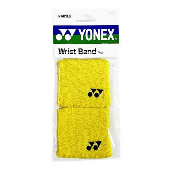 Yonex Wristbands [AC489EX-450] 腕帶 毛巾護腕 運動 打球 訓練 吸汗 乾爽 2入 黃