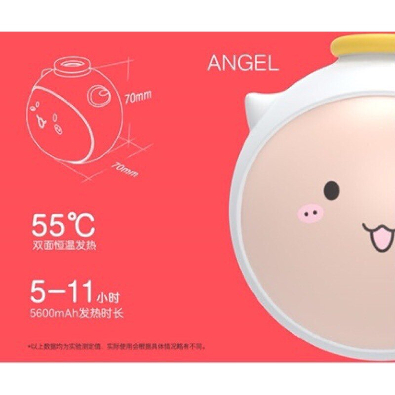 台灣現貨⚡️當天寄出 暖手寶 天使 惡魔 充電暖暖包 行動電源 充電寶