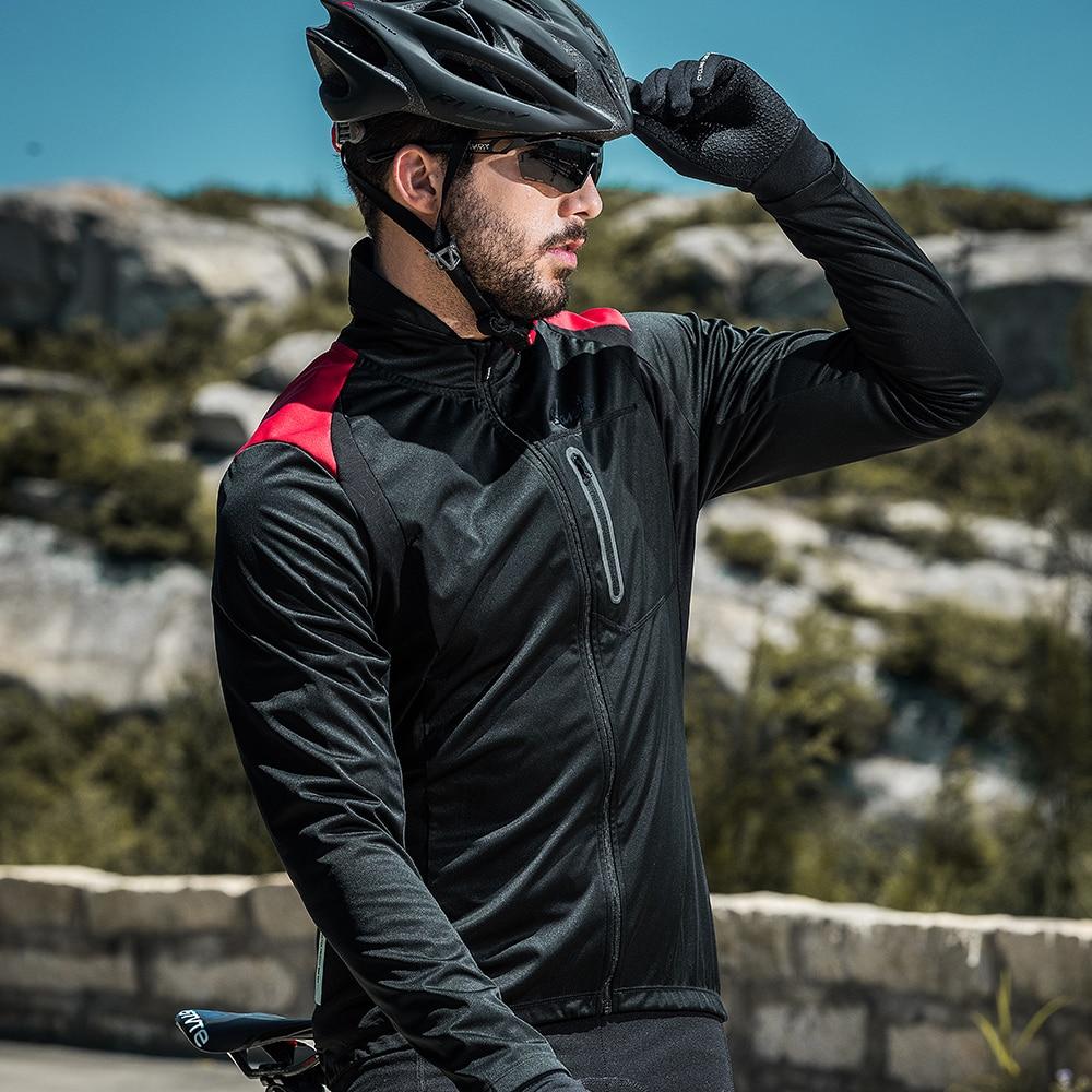 Santic自行車冬季夾克男防風抓絨保暖保暖單車騎行夾克透氣運動外套山地車騎行服