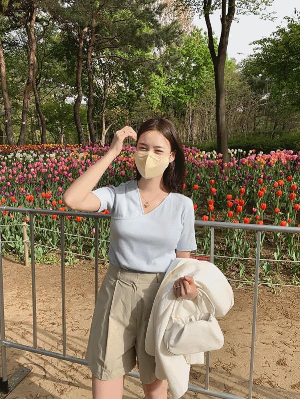 韓國空運 - Leah rap tea 短袖上衣