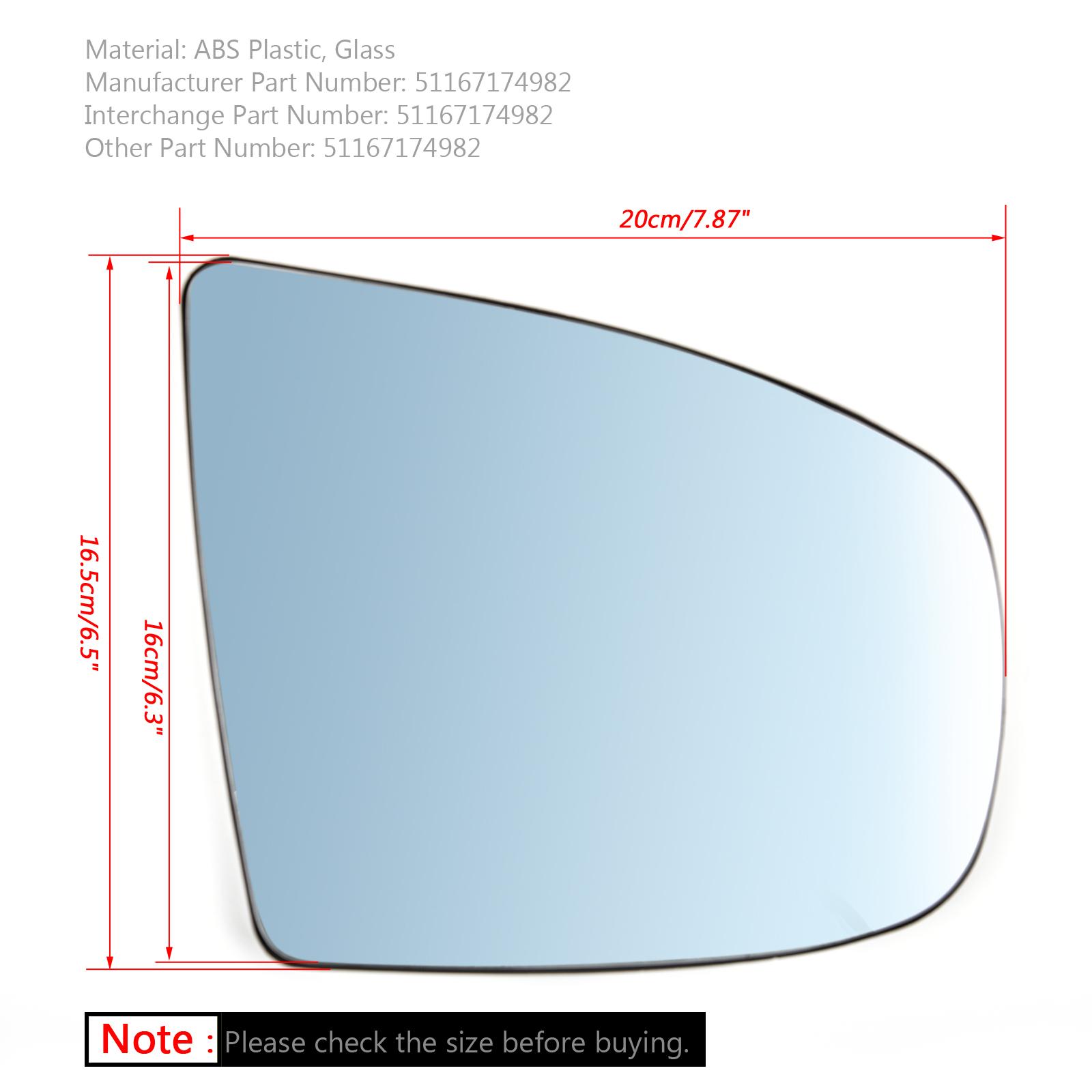 BMW X5 X6 E70 E71 E72 2008-2014專用照後鏡鏡片有加熱藍片右側-極限超快感
