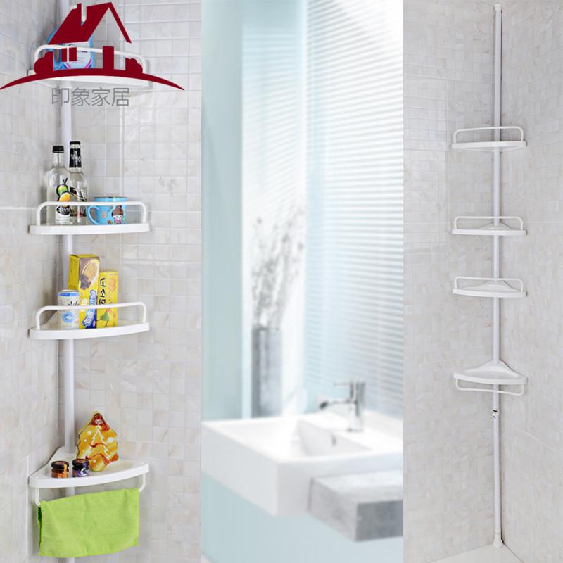 雙慶頂天立地置地轉角落架浴室衛生間四層收納理置物架 扇形角架【艾莎嚴選】
