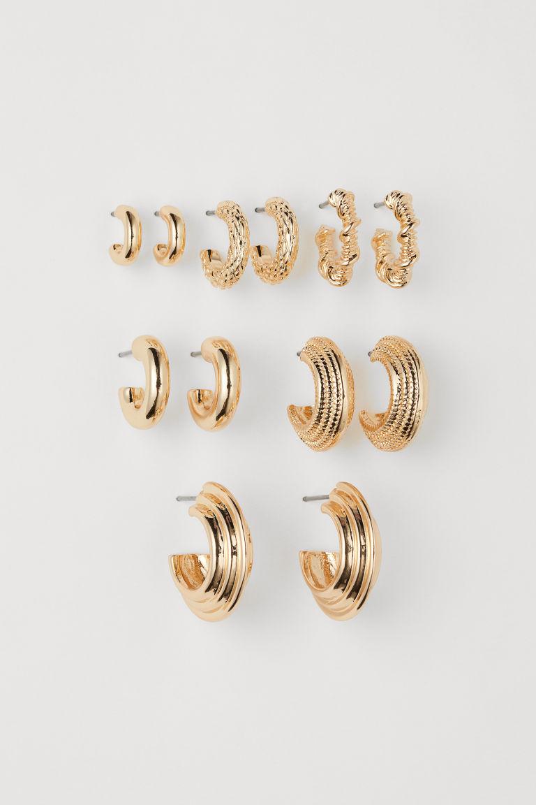 H & M - 6對入耳環 - 金色