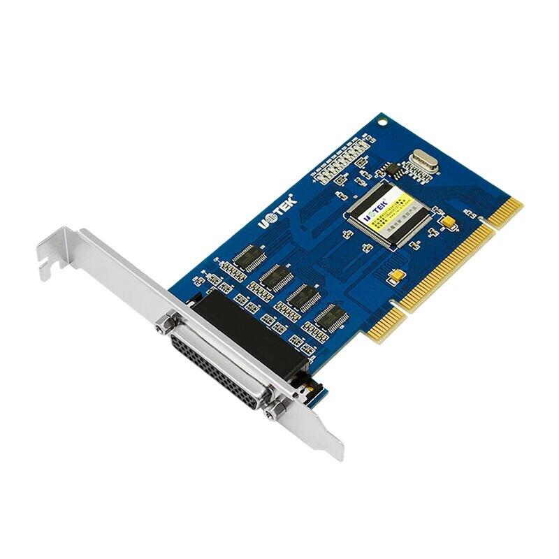 宇泰UT-754 PCI轉4口rs232串口卡 DB9針臺式機工業級PCI多串口卡9針電腦主機pc主板九針232串口四口轉接拓展