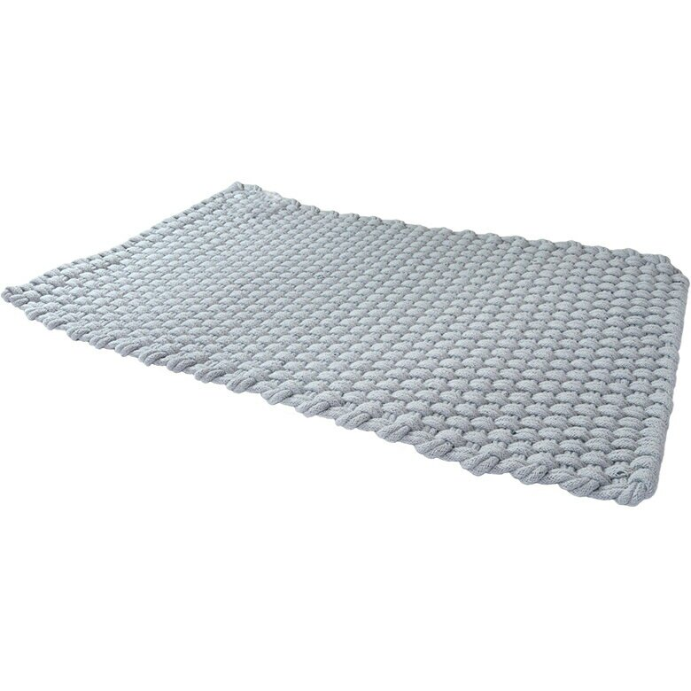 halla malmo 印式工藝 棉質編織地墊 淺藍色 T030-V1(50*80 cm) [大買家]