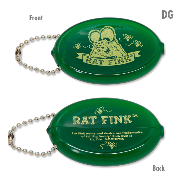 RAT FINK / RATFINK - RAF456 Oval Coin Case 橡膠 零錢包 (DG綠色)