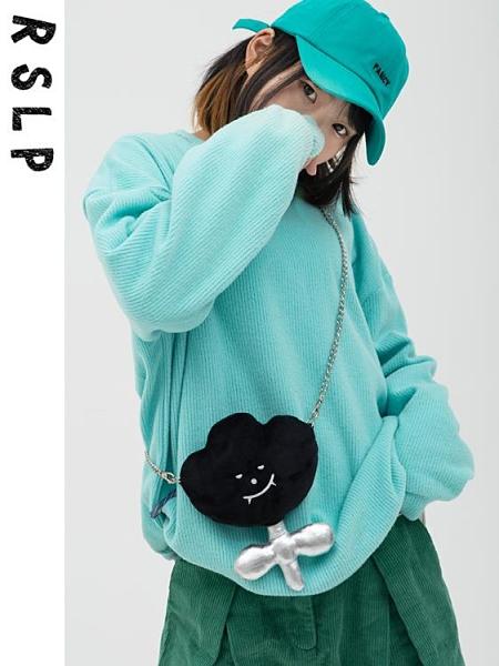 99免運 玩偶包包 若素良品2021新款側背斜背小花花零錢手機鑰匙包可愛軟萌毛絨玩偶 【寶貝計畫】
