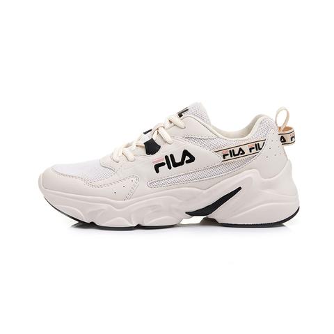 FILA 女性運動鞋-米 5-J329U-113