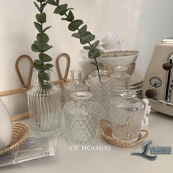 玻璃迷你小花瓶桌面擺件合集房間裝飾水培餐廳樣板房法式【邻家小鎮】