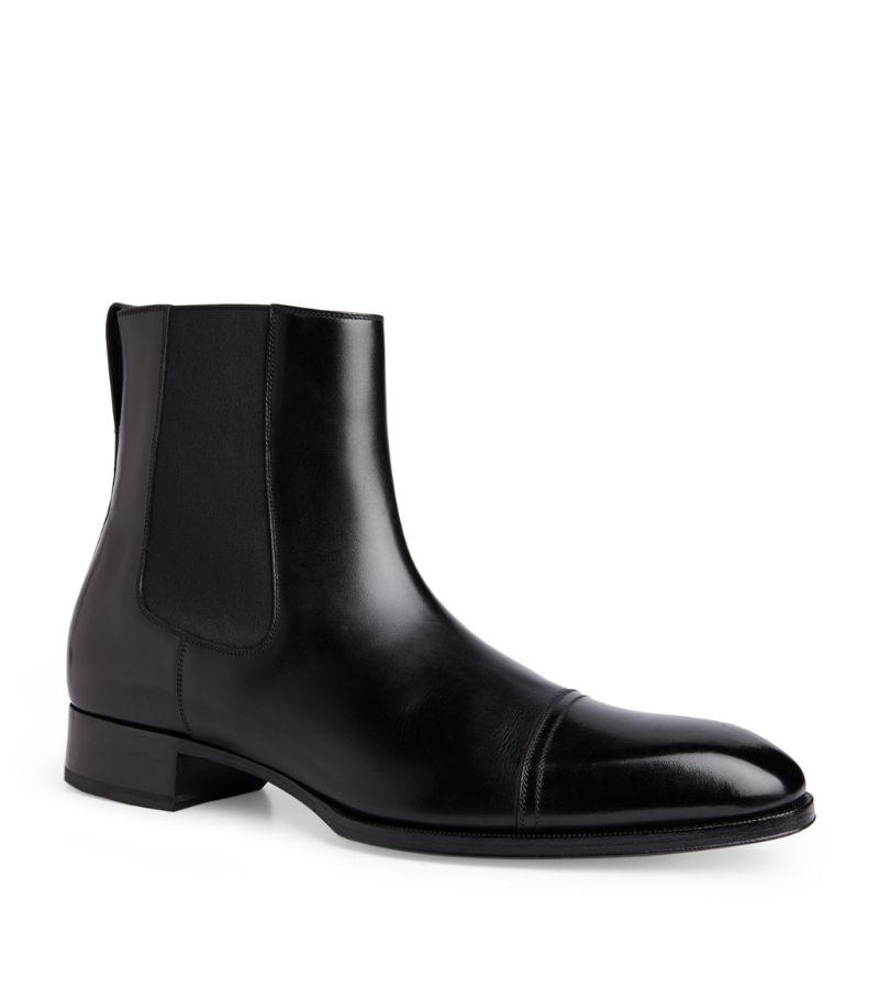 Tom Ford Patent Leather Chelsea Boots