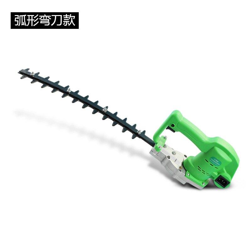 首程園林電動無刷綠籬機小型直刀弧形彎刀充電式茶葉球樹修剪機
