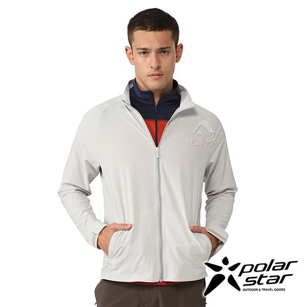 PolarStar 中性 休閒彈性外套『淺卡其』P21105 露營.戶外.吸濕.排汗.透氣.快乾.輕量.防曬