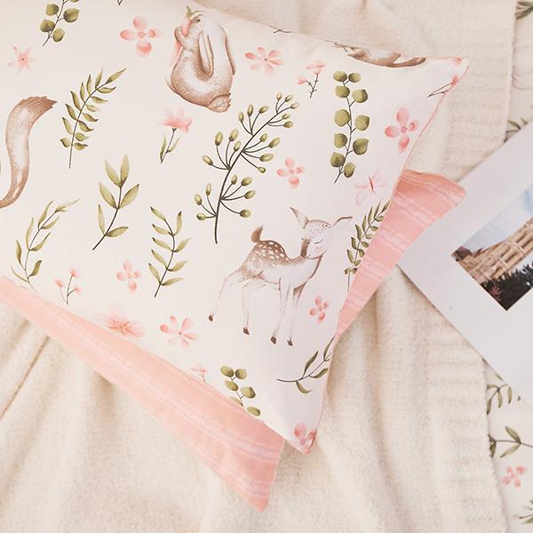 床包枕套組-單人 / 精梳純棉二件式 / 尋覓夥伴 台灣製