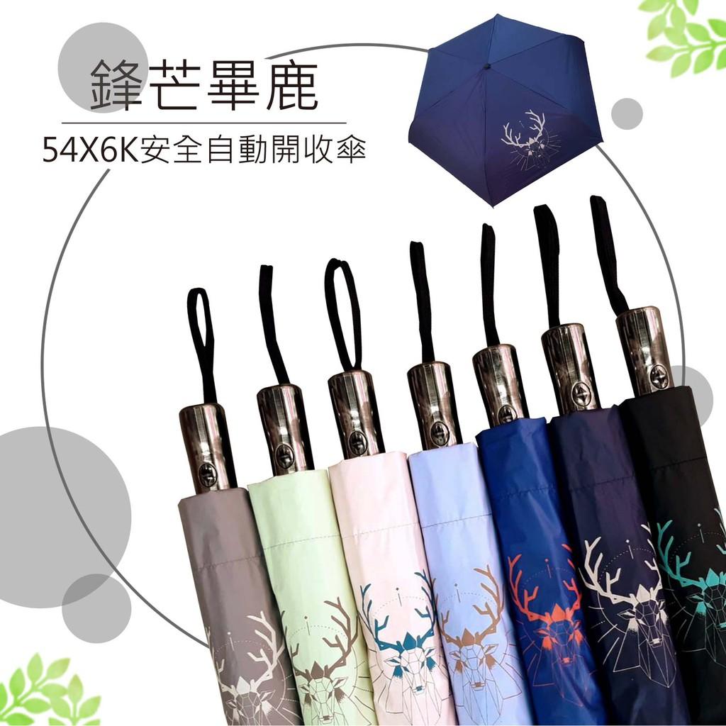 《鋒芒畢鹿》半徑54公分,UV黑膠安全自動開收傘