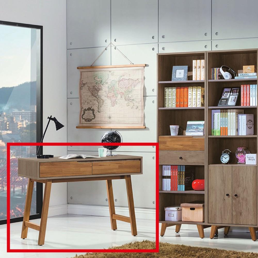 106cm書桌-k62-668工業風工作桌 書櫃型書桌 書桌加書櫃 金滿屋