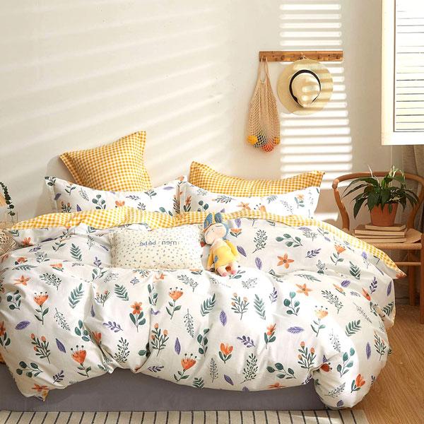 床包枕套組-雙人加大 / 精梳純棉三件式 / 森之頌曲 台灣製