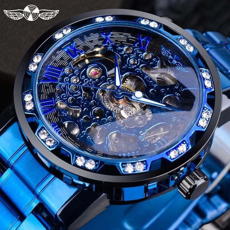 手錶男機械錶鏤空概念個性學生韓版夜光簡約時尚潮流腕男士手錶