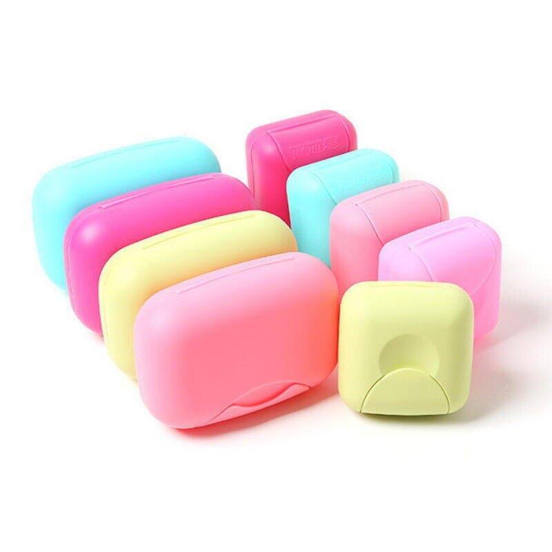 旅行手工肥皂盒-小號 防水防漏皂盒 附蓋鎖扣香皂盒【DO325A】 123便利屋