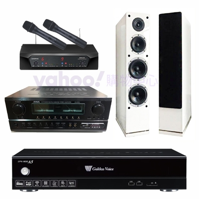 金嗓 CPX-900 A5+SA-830U+CHIAYO NDR-2620+AS-168W(伴唱機4TB+卡拉OK套組)