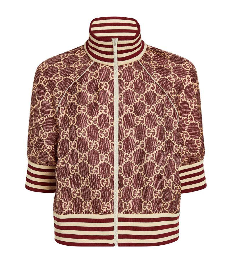 Gucci Silk Gg Supreme Jacket