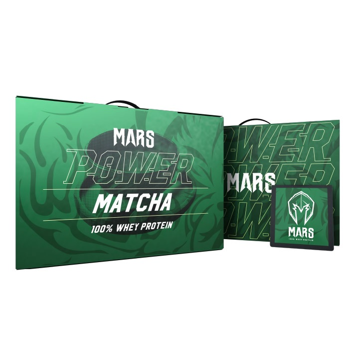 [戰神 MARS] 高熱量乳清 - 能量抹茶 (60包/盒)