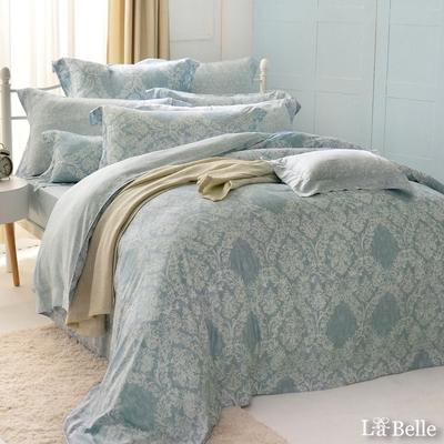 義大利La Belle 安格特 特大數位天絲防蹣抗菌吸濕排汗兩用被床包組