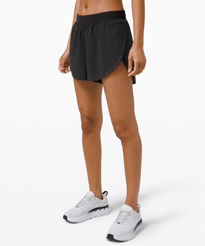 "Lululemon Women's Find Your Pace Short 3"" Lined, Black Size 10"