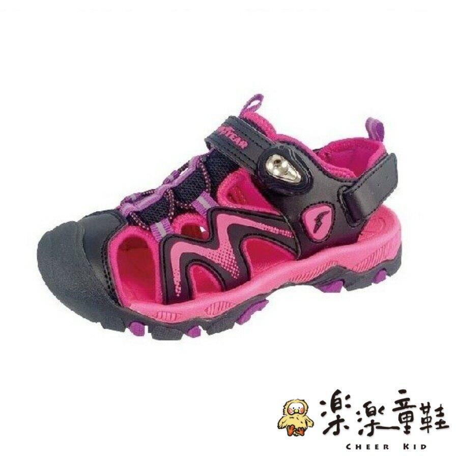 【樂樂童鞋】GOODYEAR大童機能涼鞋-紫粉 - 女童鞋 男童鞋 涼鞋 大童鞋 大童涼鞋 兒童涼鞋 GOODYEAR 現貨
