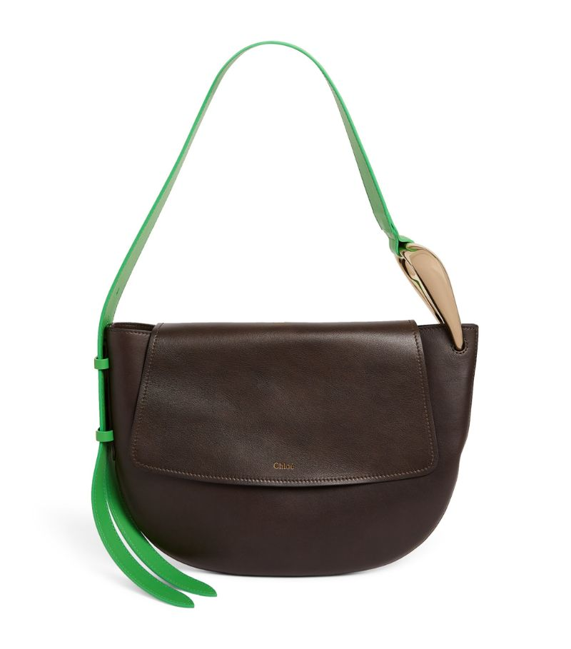 Chloé Leather Kiss Hobo Shoulder Bag