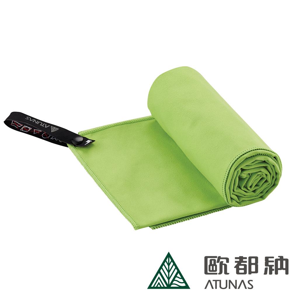 【ATUNAS 歐都納】雙面抗菌吸水巾50x100cm (A1ACCC03 草綠/附收納盒/極超細纖維)