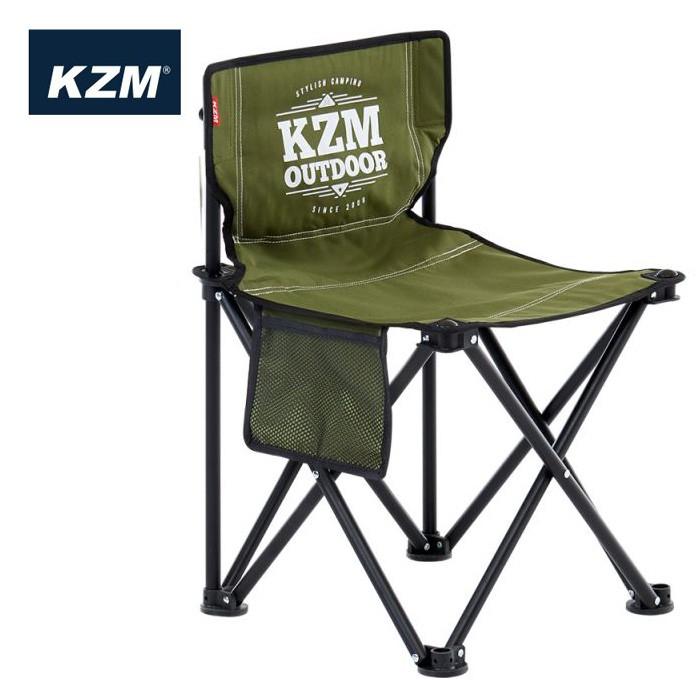 【KAZMI 韓國】極簡時尚輕巧折疊椅 戶外椅 休閒椅 橄欖綠 (K9T3C001KH)