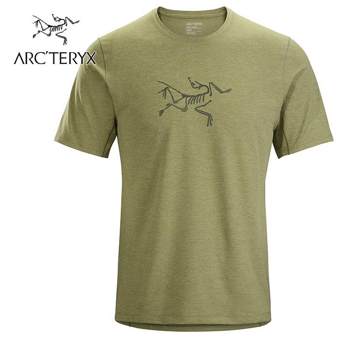 【ARCTERYX 始祖鳥 加拿大】CORMAC 圓領短袖排汗衣 運動上衣 機能衣 男款 動能綠 (L07568700)