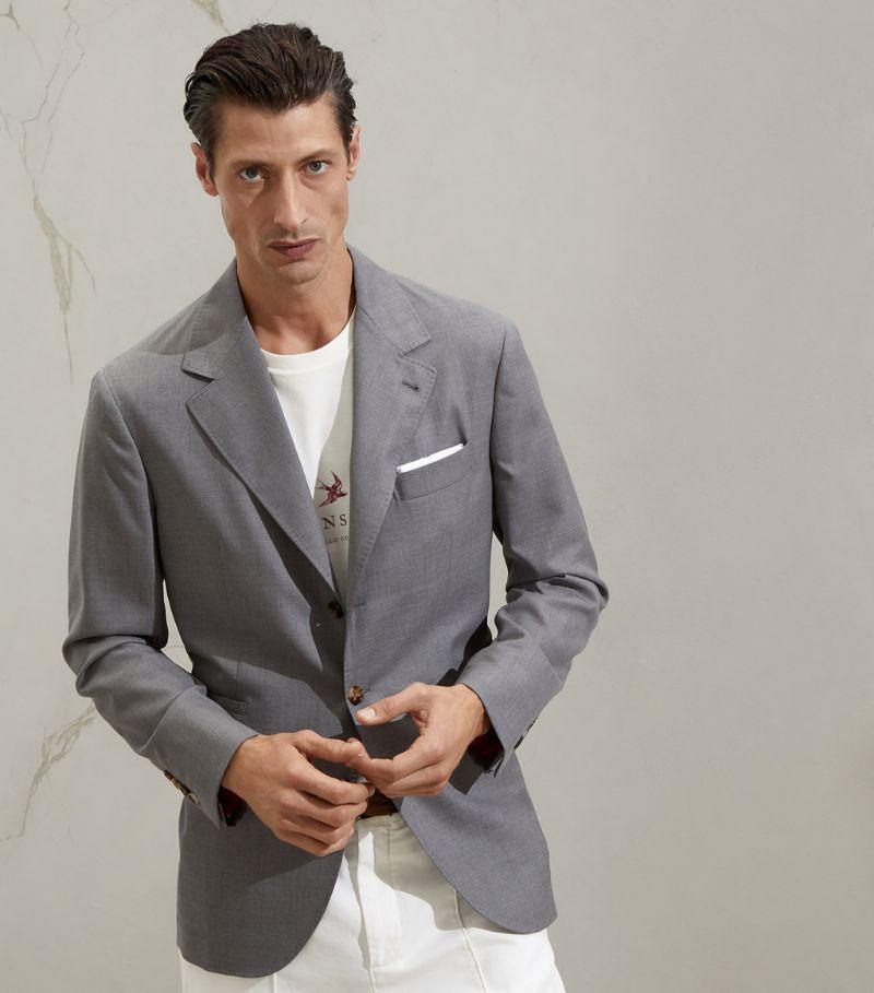 Brunello Cucinelli Wool-Silk Single-Breasted Blazer