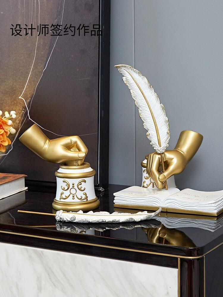 創意歐式復古裝飾品北歐書房現代簡約電視櫃酒櫃家居軟裝飾品擺件CCC2 愛尚優品